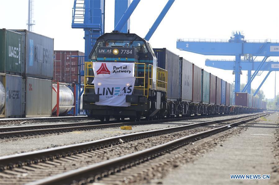 BELGIUM-ANTWERP-CHINA-EUROPE FREIGHT TRAIN