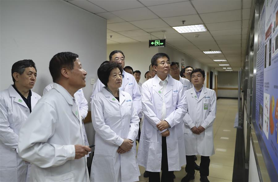 CHINA-BEIJING-SUN CHUNLAN-MEDICAL RESEARCH INSTITUTIONS-INSPECTION (CN)