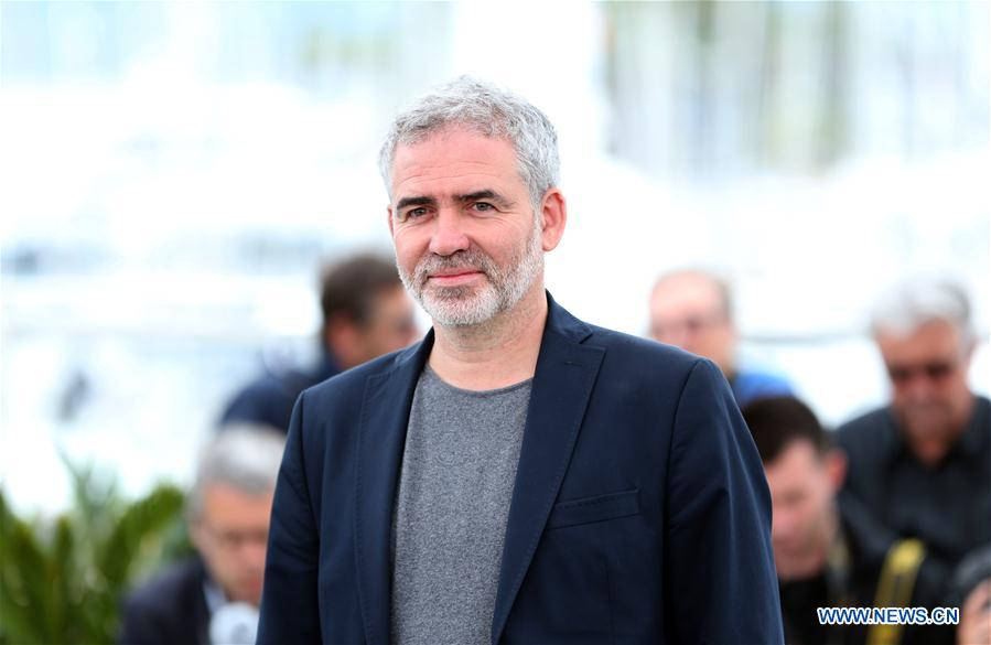 Director Stephane Brize of the film &quot;In War (En Guerre)&quot; poses during a photocall of the 71st Cannes International Film Festival in Cannes, France on May 16, 2018. The 71st Cannes International Film Festival is held from May 8 to May 19. (Xinhua/Luo Huanhuan)<br/>