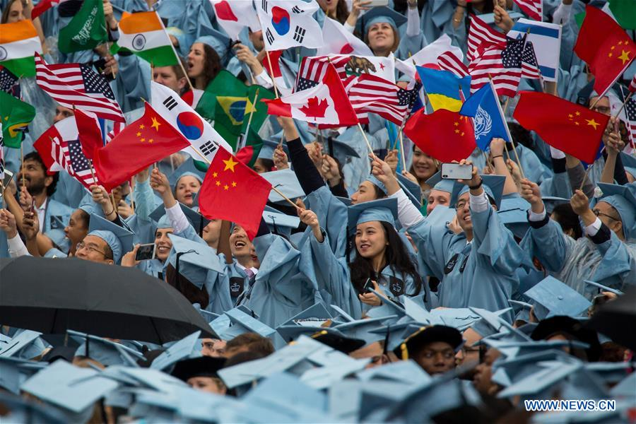 Columbia University Holds Commencement Ceremony Xinhua English News Cn