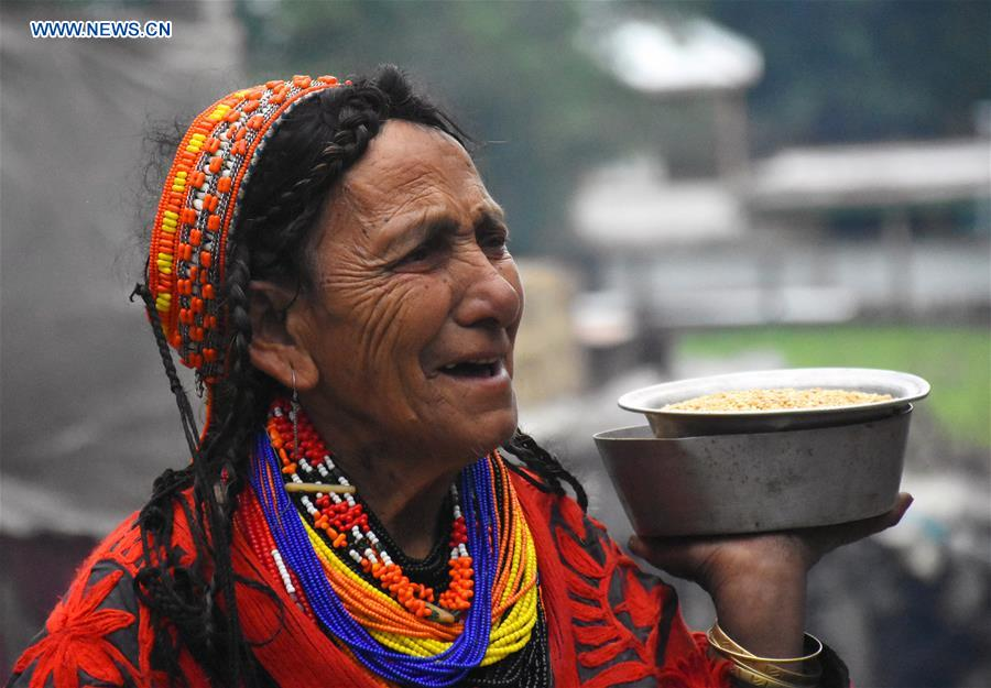 Daily life in ancient tribe Kalash in NW Pakistan