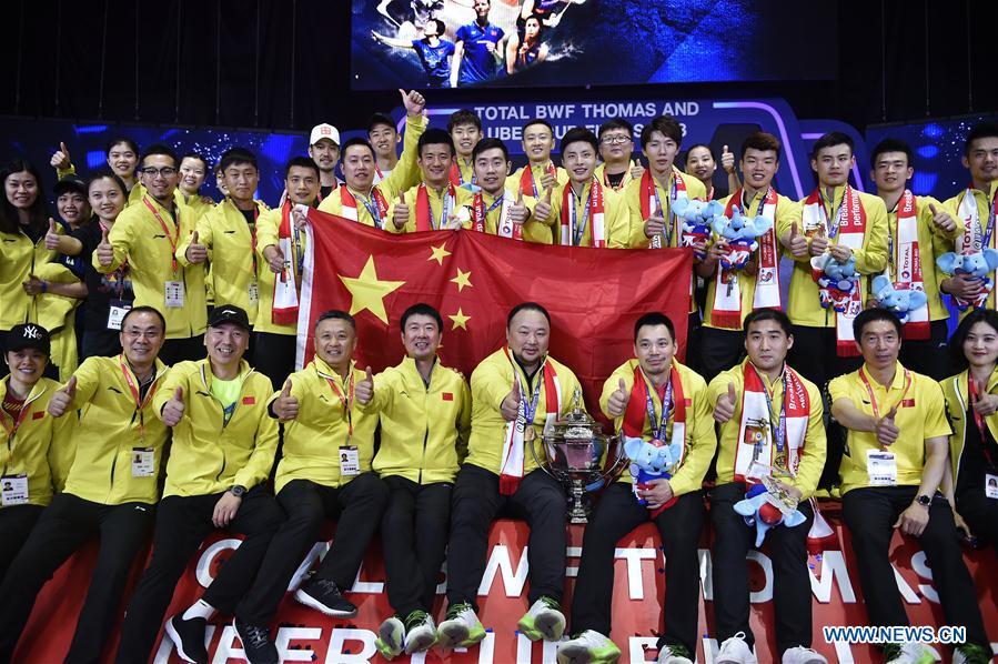 China Beats Japan 3 1 To Win Thomas Cup Xinhua English News Cn