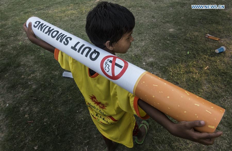 印度 - 加尔各答 - 世界无烟日
