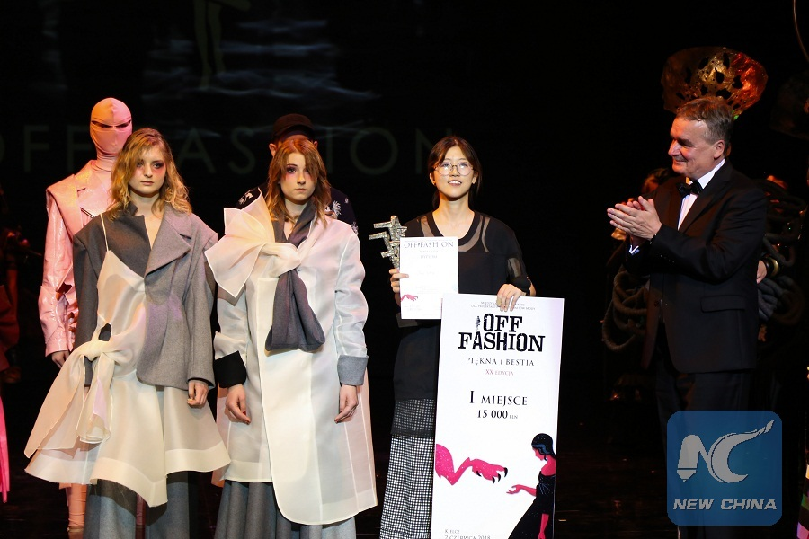 Chinese Student Wins Int L Competition For Designers And Fashion Enthusiasts In Poland Xinhua English News Cn