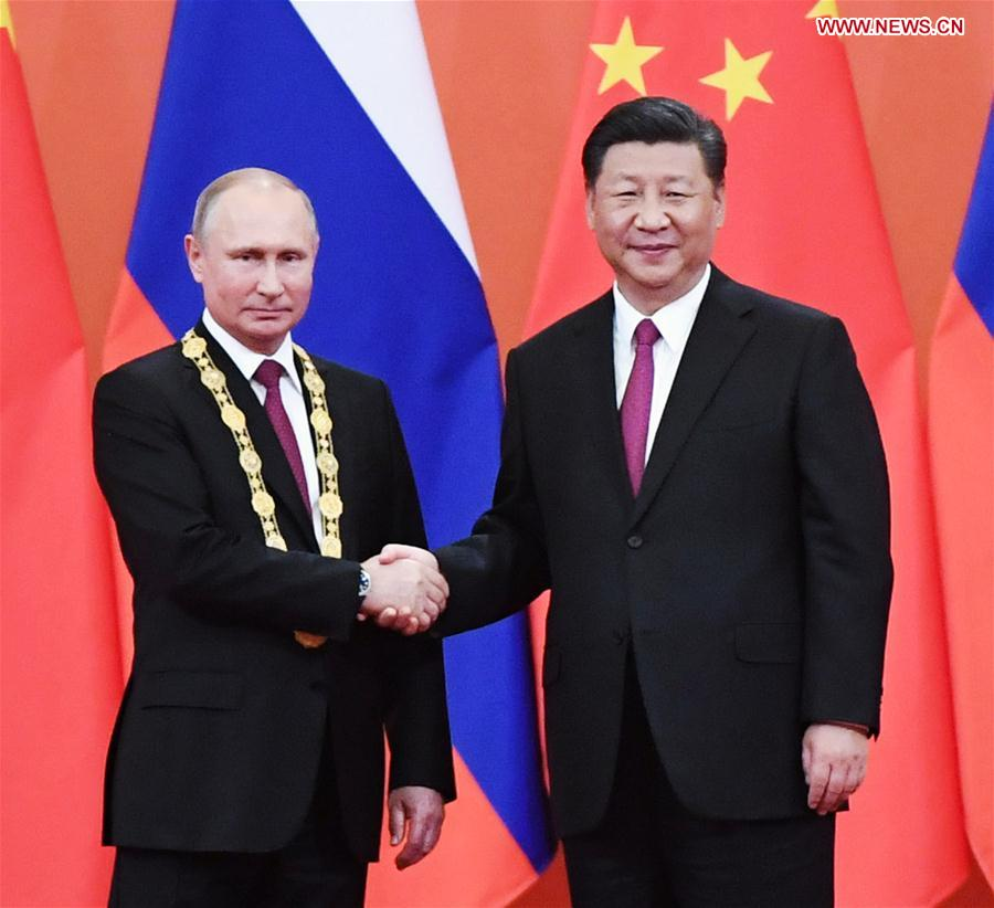 Xi Awards Putin China S First Friendship Medal Xinhua English News Cn