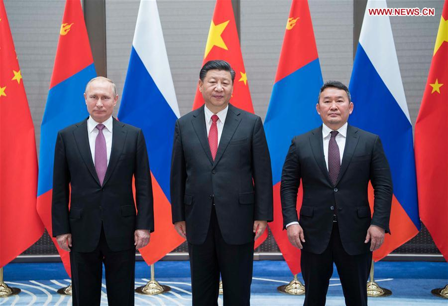 China Russia Mongolia Vow To Strengthen Cooperation Xinhua English News Cn