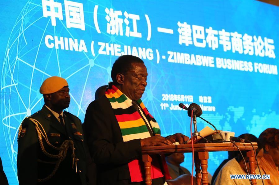 ZIMBABWE-HARARE-CHINA-ZHEJIANG-MOU-SIGNING