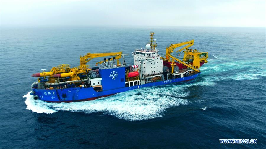 CHINA-JIANGSU-LARGE DREDGING VESSEL-SEA TRIAL (CN)