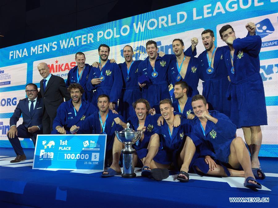 <b>Montenegro</b> wins FINA Men's Water Polo World <b>League</b> Super Final ...