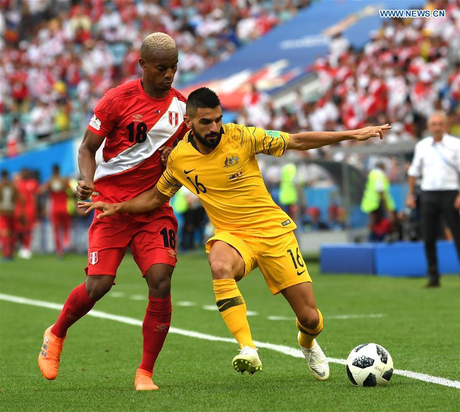 f45eae81b8ebc3 Peru beat Australia 2-0 at World Cup - Xinhua | English.news.cn