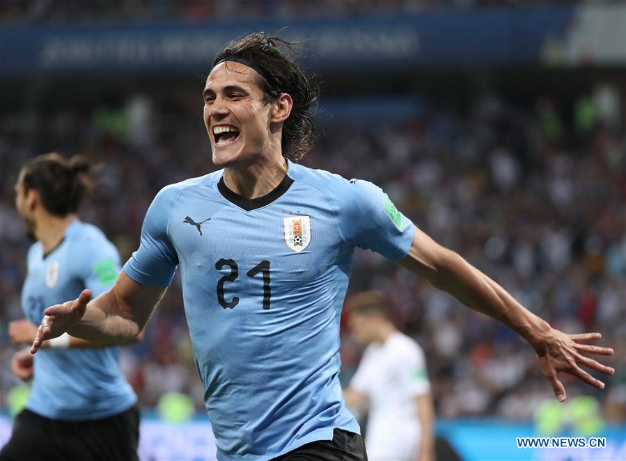 cheaper f544c c4076 Cavani scores twice to send Uruguay to the last eight ...