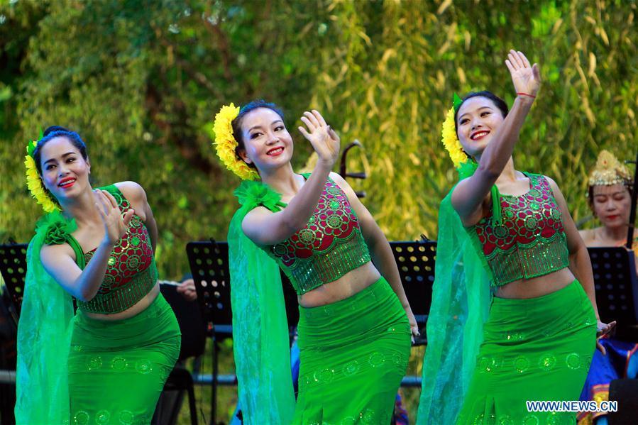ROMANIA-BUCHAREST-FOLKLORE FESTIVAL-CHINA-YUNNAN-PERFORMANCE