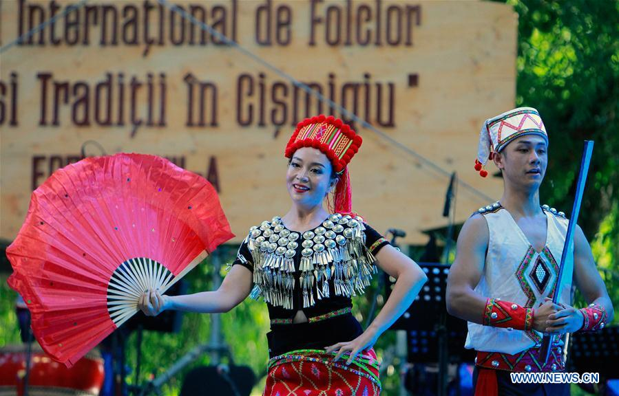 ROMANIA-BUCHAREST-FOLKLORE FESTIVAL-CHINA-YUNNAN-PERFORMANCE