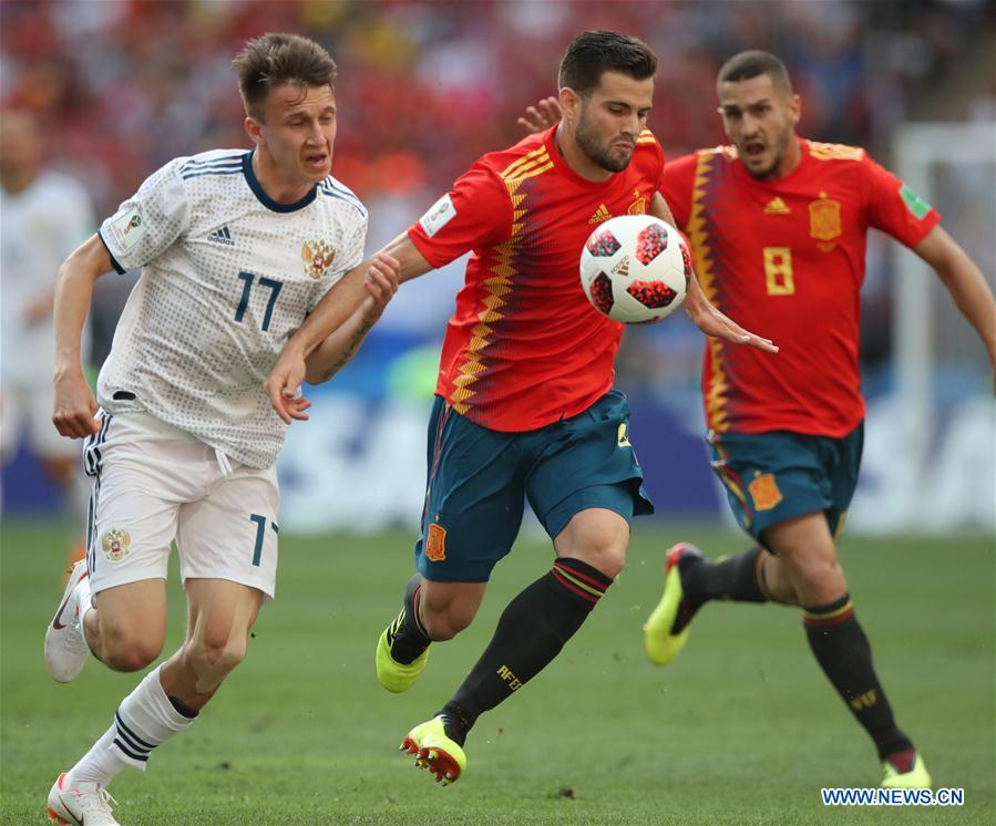 2018 Fifa World Cup Round Of 16 Match Spain Vs Russia Xinhua
