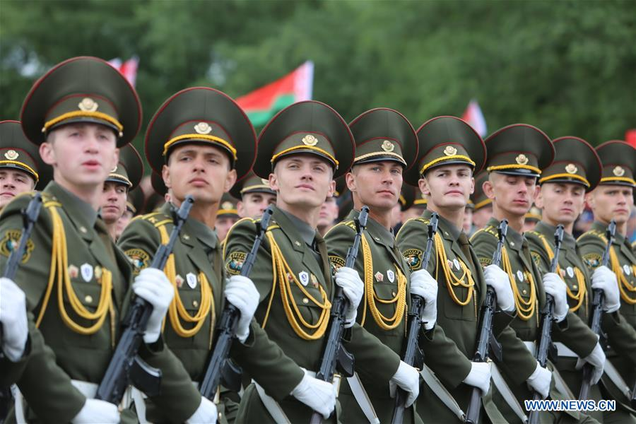 Military Parade Marks Independence Day In Minsk Belarus Xinhua English News Cn