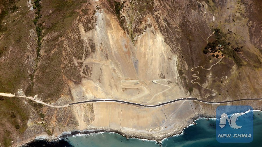 Highway 1 along scenic U S  west coast reopens after 14-month
