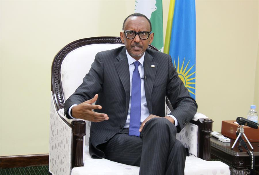 RWANDA-KIGALI-PRESIDENT-INTERVIEW