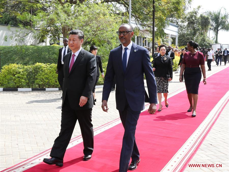 RWANDA-CHINA-XI JINPING-KAGAME-TALKS