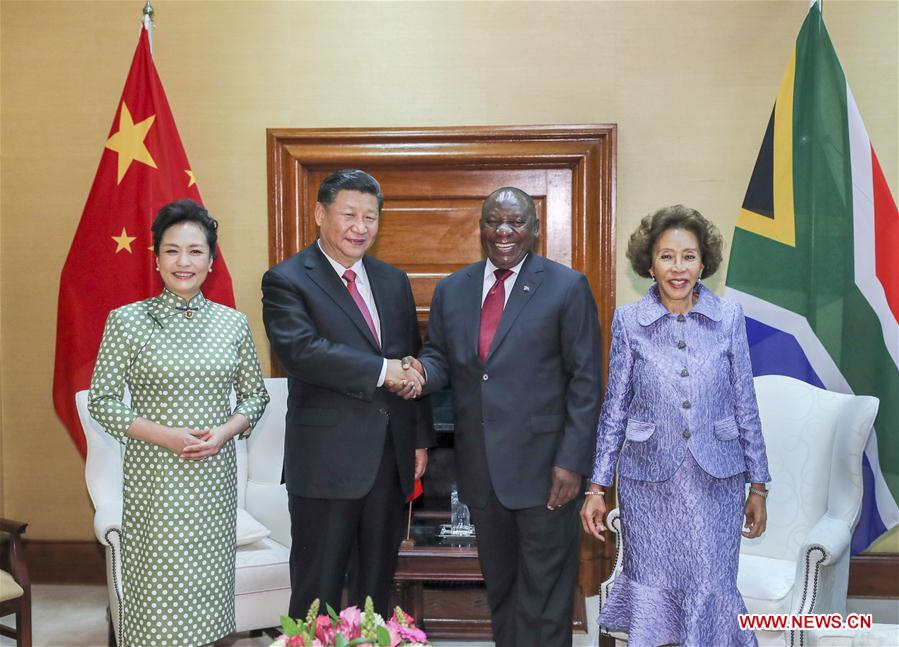 SOUTH AFRICA-PRETORIA-CHINA-XI JINPING-CYRIL RAMAPHOSA-TALKS