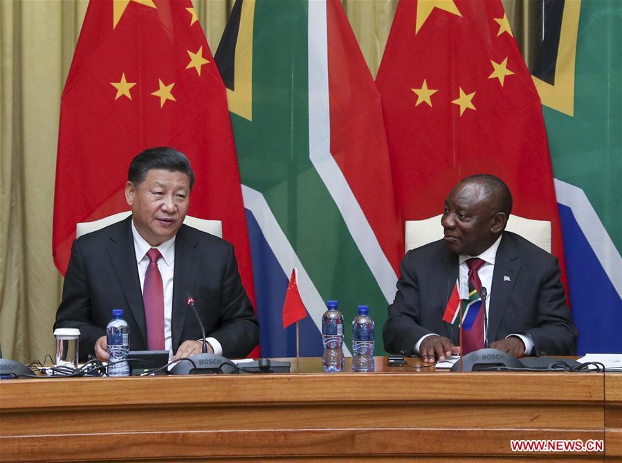 SOUTH AFRICA-PRETORIA-CHINA-XI JINPING-CYRIL RAMAPHOSA-TALKS