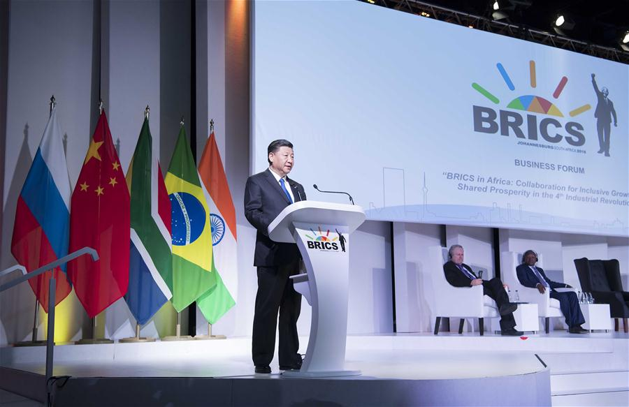 SOUTH AFRICA-JOHANNESBURG-XI JINPING-BRICS BUSINESS FORUM