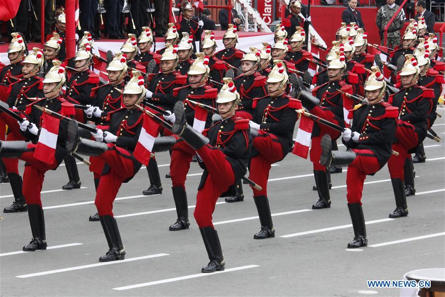 In Pics Celebration Of 197th Anniv Of Peru S Independence Xinhua English News Cn