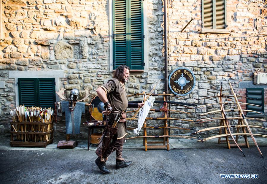ITALY-CASTEL RIGONE-FESTIVAL OF THE BARBARIANS