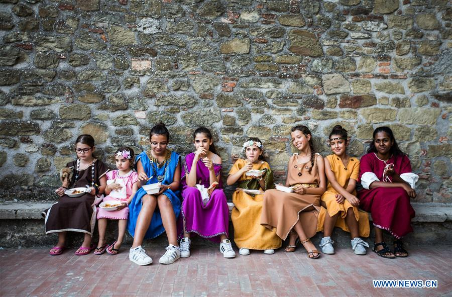 ITALY-CASTEL RIGONE-FESTIVAL OF THE BARBARIANS
