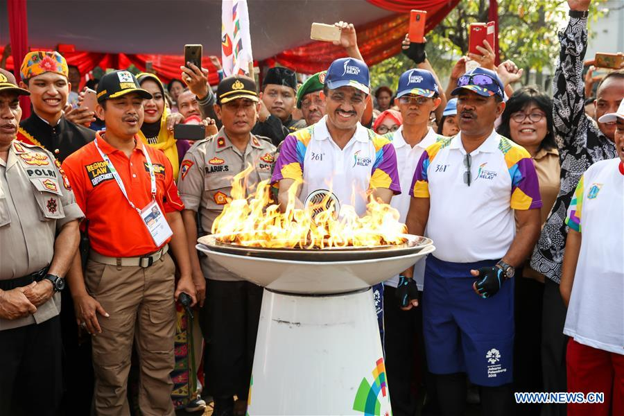 (SP)INDONESIA-JAKARTA-ASIAN GAMES-TORCH RELAY