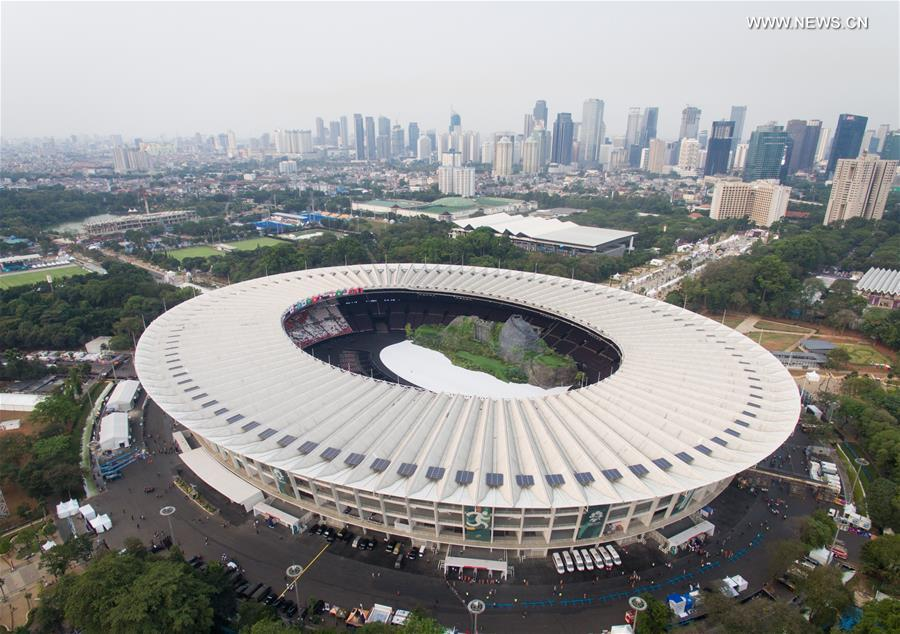 Aerial view of Gelora Bung Kar...