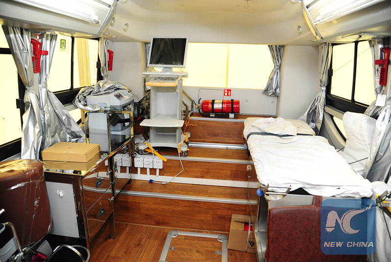 China's Red Cross donates mobile clinics, ambulances to Syria