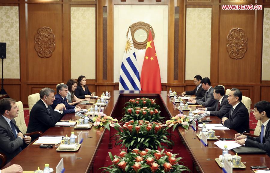 CHINA-BEIJING-WANG YI-URUGUAYAN FM-TALKS (CN)