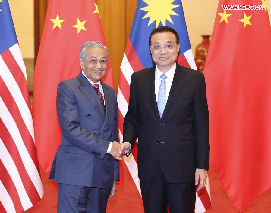 CHINA-BEIJING-LI KEQIANG-MALAYSIA-MAHATHIR MOHAMAD-TALKS (CN)