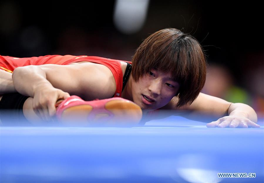 DPRK wins women's wrestling freestyle 57 kg final at 18th Asian