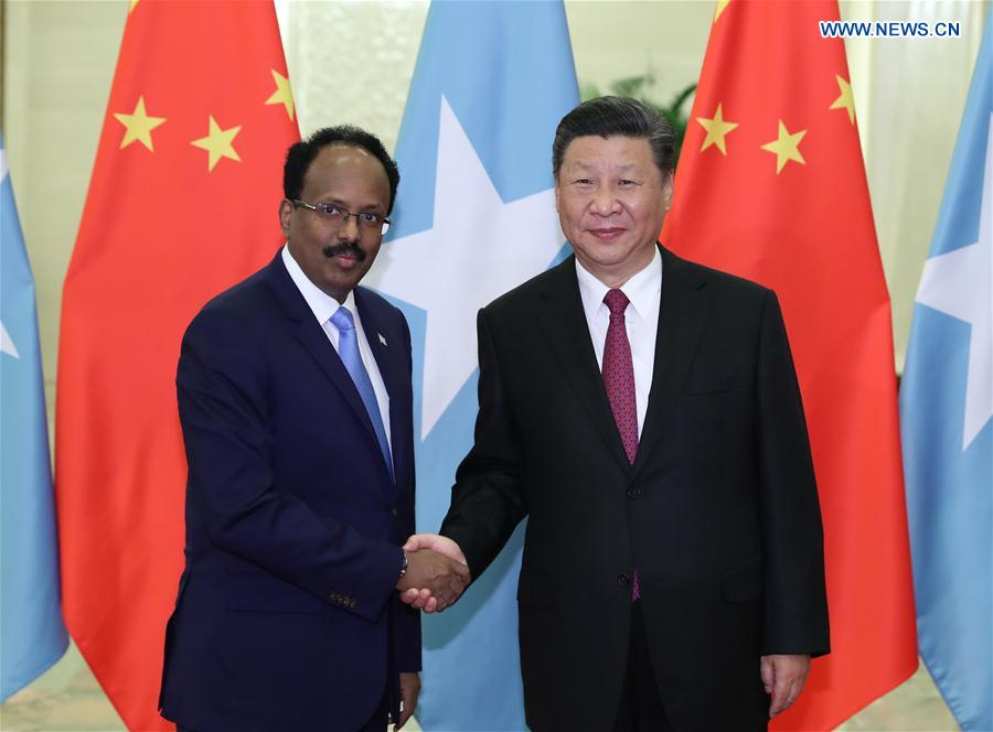 Xi meets with Somali president - Xinhua | English news cn