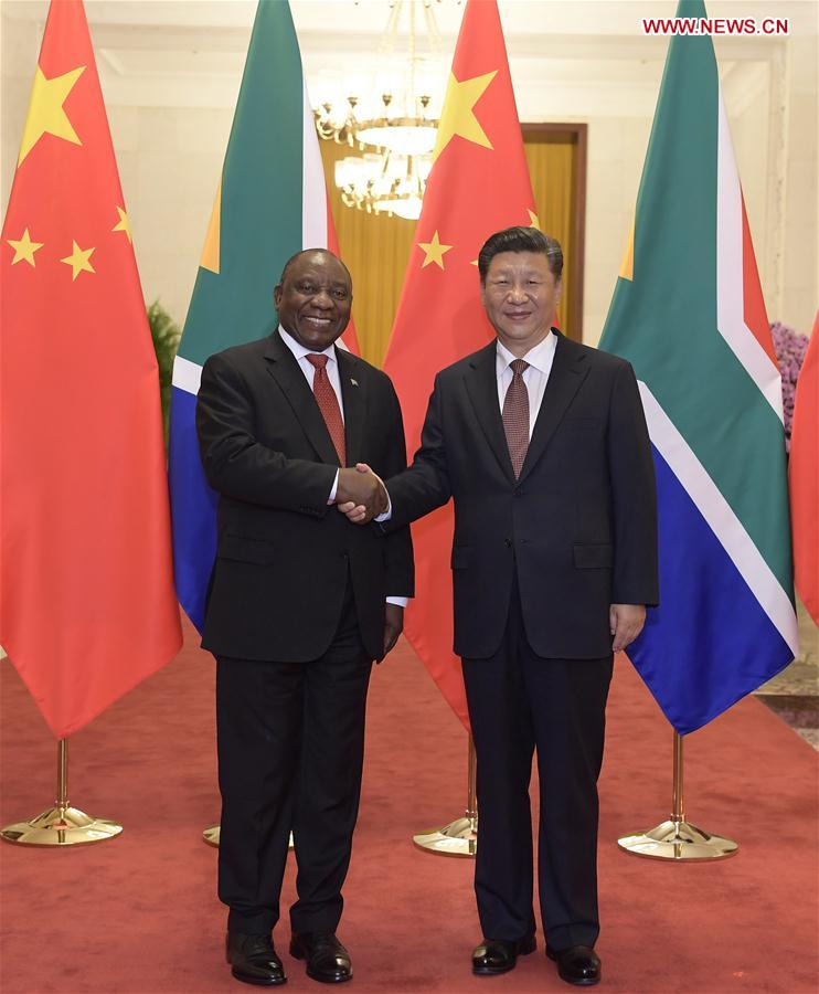 CHINA-BEIJING-XI JINPING-SOUTH AFRICAN PRESIDENT-TALKS (CN)