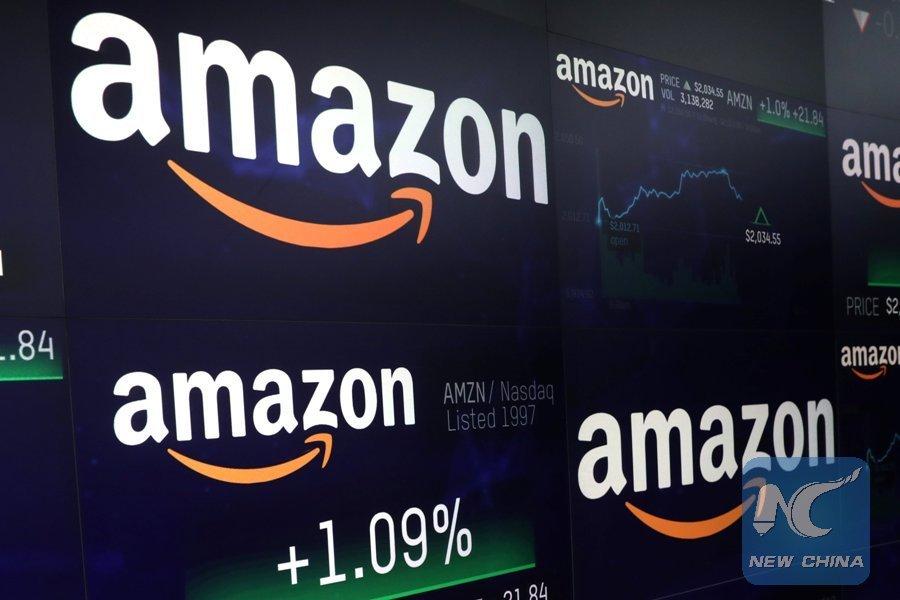 amazon hits 1 trillion usd market cap xinhua english news cn
