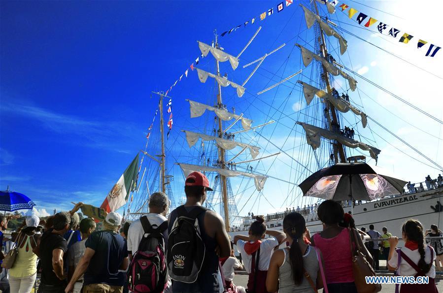 CUBA-HAVANA-MEXICO-SHIP-ARRIVAL