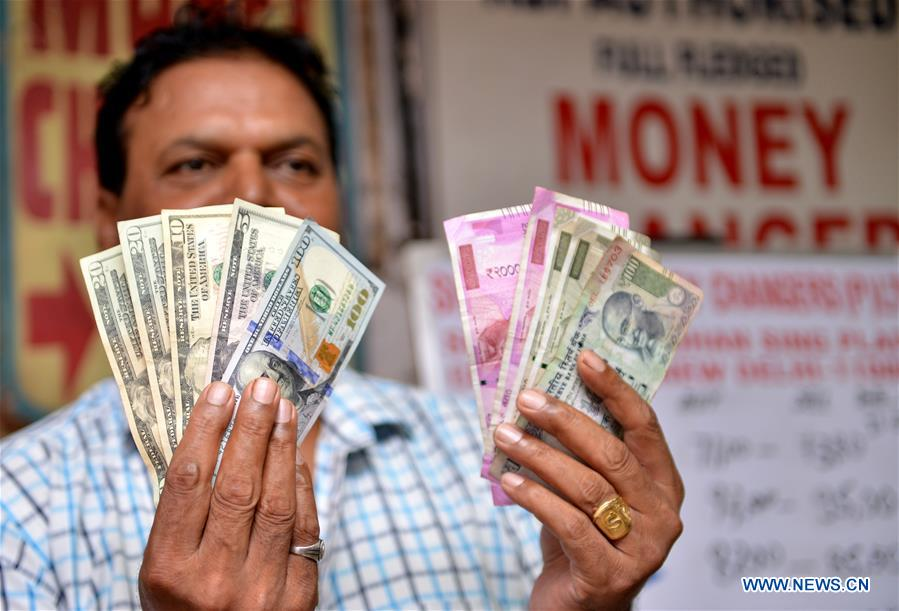 indian rupee declines to 72 91 against usd xinhua english news cn