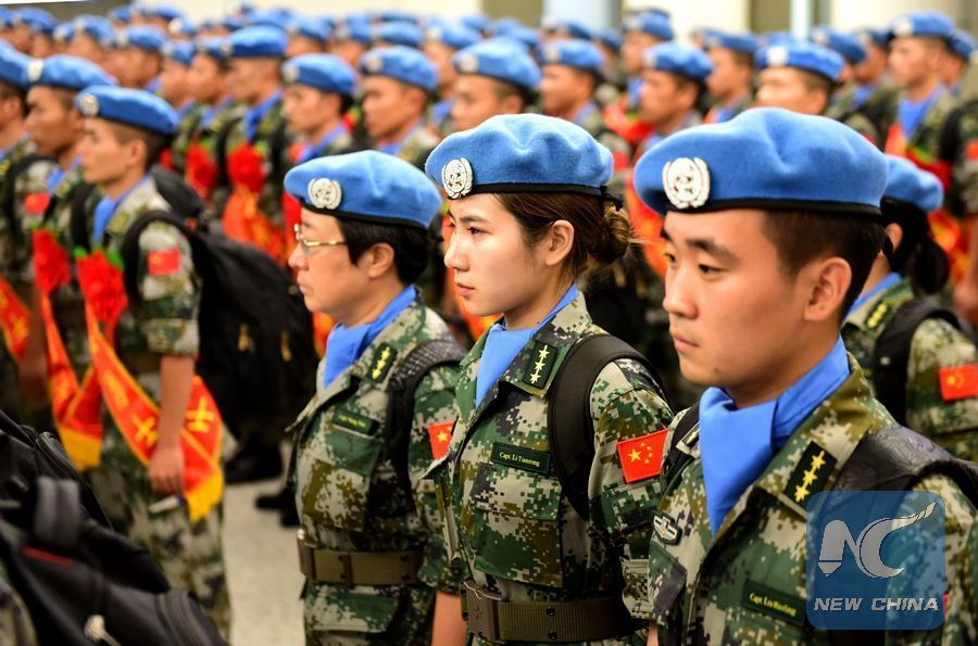Chinese peacekeepers arrive in South Sudan for one-year mission