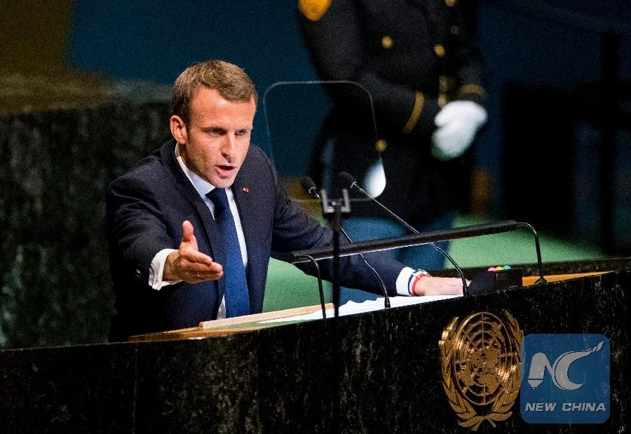 French President Macron Defends Multilateralism Paris Agreement Xinhua English News Cn