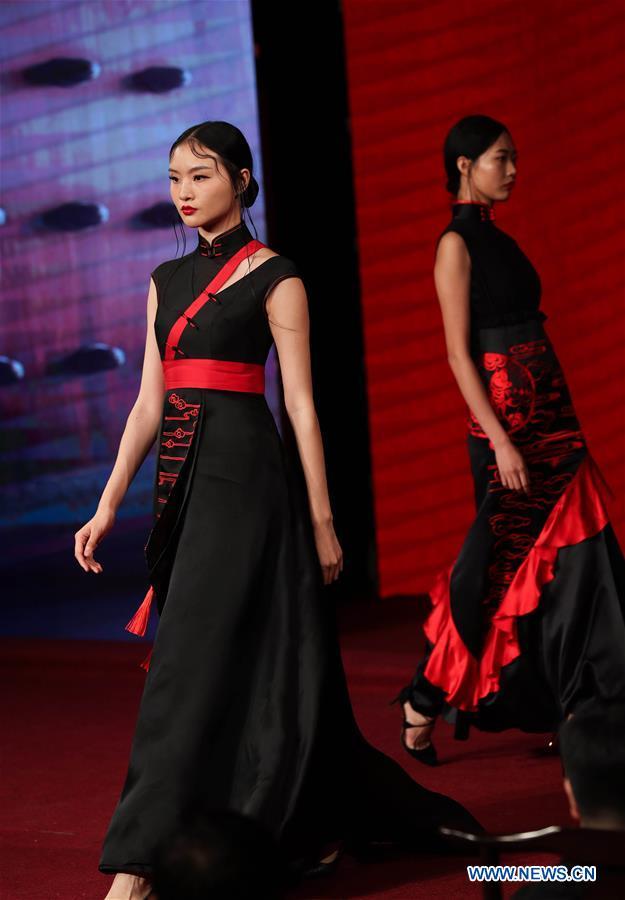 CHINA-SICHUAN-ANCIENT TOWN-CHEONGSAM SHOW (CN)