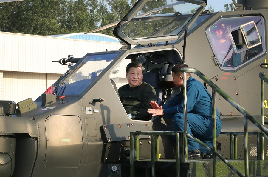 CHINA-MILITARY-XI JINPING-INSPECTION (CN)