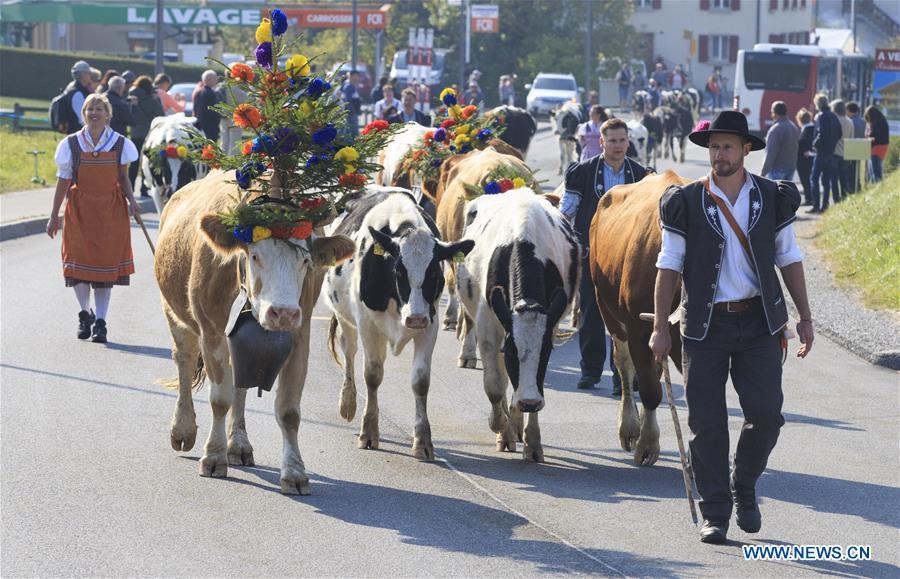 SWITZERLAND-CHARMEY-DESALPE-FESTIVAL