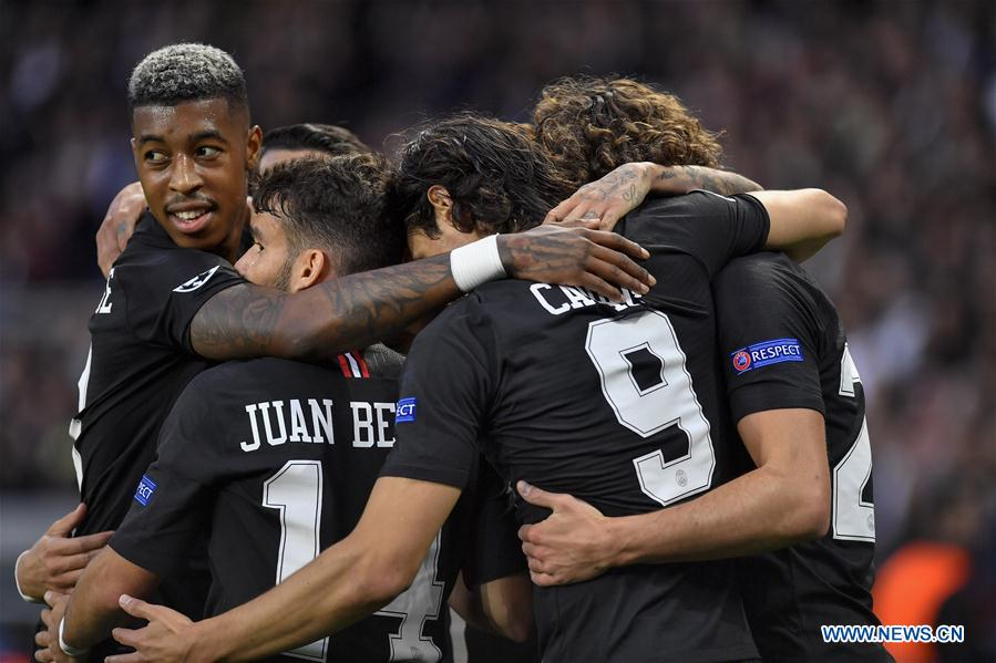 2ce1b37a3fa Paris Saint-Germain beats Red Star Belgrade 6-1 during UEFA ...