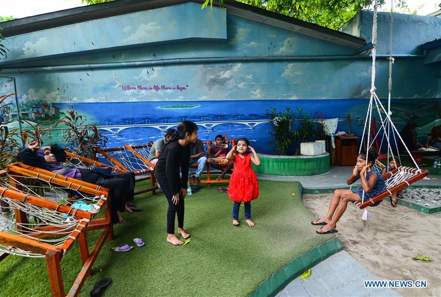 MALDIVES-MALE-CHINA-MALDIVES FRIENDSHIP BRIDGE-PAINTING