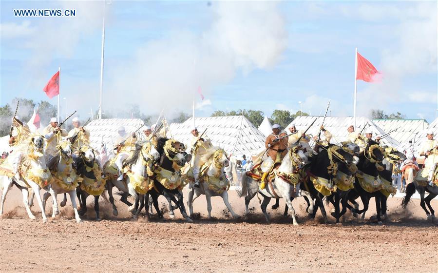 MOROCCO-EL JADIDA-HORSE EXHIBITION