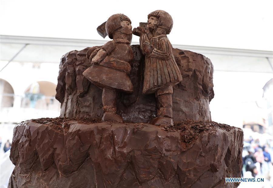 ITALY-PERUGIA-CHOCOLATE FESTIVAL