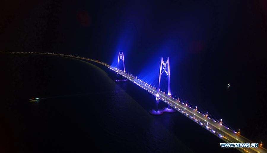 CHINA-HONG KONG-ZHUHAI-MACAO BRIDGE-CONSTRUCTION (CN)