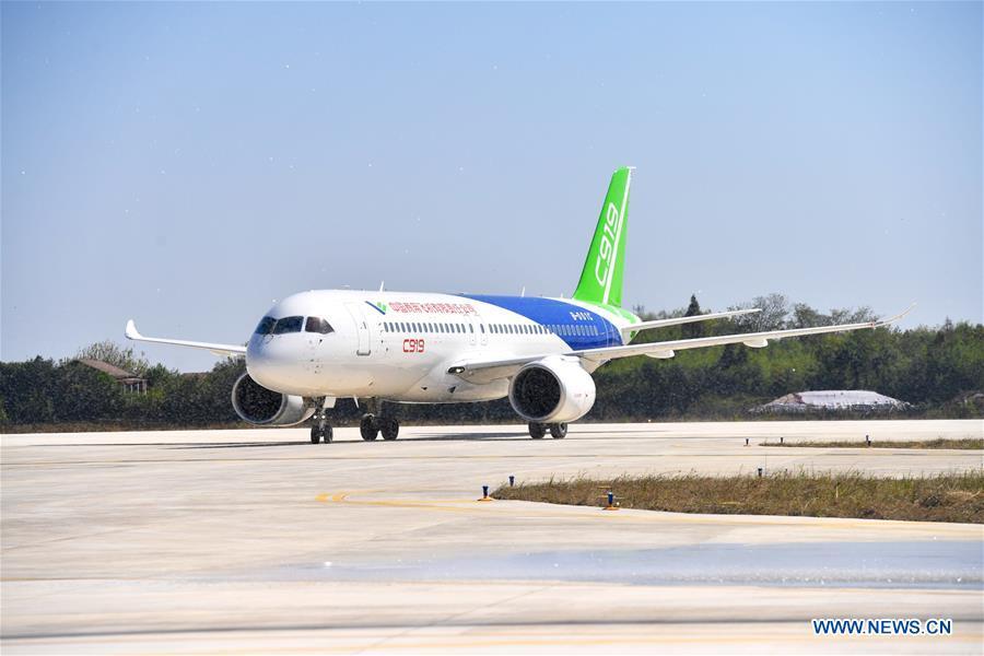 CHINA-JIANGXI-C919 PLANES-TEST (CN)